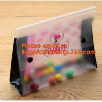 China Office school filing supplies A4 plastic portable document file bag /envelope pocket file folder with button wholesale