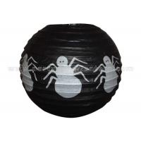 China Spider Patterned Printed Round Paper Lanterns wholesale