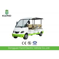 China Curtis Controller 48V Electric Sightseeing Car / Electric Passage Car 8 Seaters With Onboard Charger wholesale