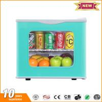 Quality 20L hotel mini fridge glass door thermoelectric small refrigerator price with lock for sale