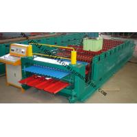 China Corrugated Double Layer Roll Forming Machine , Wave Galvanized Roof Sheet Cold Roll Former wholesale