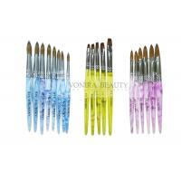 China Super Collection Of  Kolinsky Sable Acrylic Nail Brush For Carving And Painting on sale