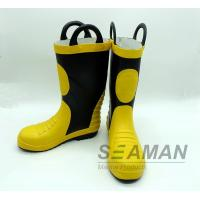 China Steel Toe Fireman Rubber Boots Fire Fighter'S Equipment EN15090-2012 Safety Shoes wholesale