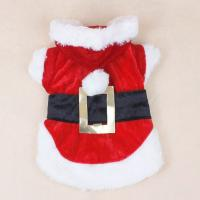 China Dacron + Cotton Christmas Dog Clothes Pet Apparel Santa Dress For Shih Tzu on sale