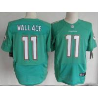 China Nike NFL Miami Dolphins 11# mike wallace green elite Jersey wholesale