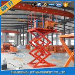 China 1.5T 3.5M Hydraulic Warehouse Scissor Lift Cargo Scissor Lift Platform wholesale