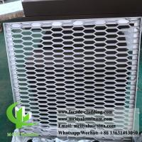 China Metal Aluminum Expanded Mesh Screen For Facade Fence With Powder Coated wholesale
