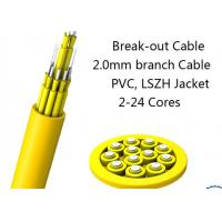 China 24 Fiber Multimode Fan-Out Indoor Breakout Fiber Optic Cable With High Strength wholesale