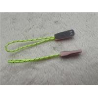 China Fluorescent Green Rope Eye Catching Rubber Zipper Puller For Outdoor Sportswear wholesale