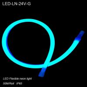 Quality IP44 24V Waterproof Green flexible LED Neon lights/ LED strip Lighting for for sale