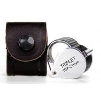 China Folding Triplet Jewelers Loupe Magnification Of 10x For Checking Gem Diamond wholesale
