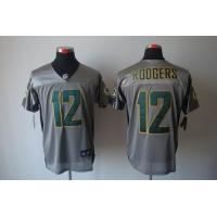 China Nike NFL Green Bay Packers 12 Rodgers Grey Shadow Elite jersey www.doamazingbusiness.net wholesale