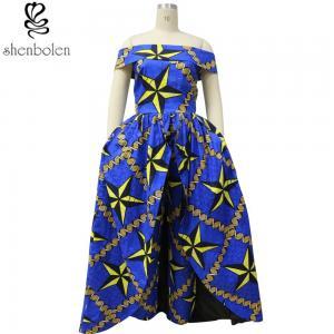China Dashiki fabric African print dresses 100% cotton wax fabric off shoulder wholesale