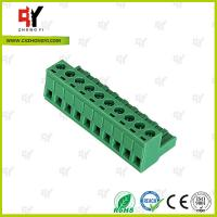 China Wire Range 28-12 AWG Pluggable Terminal Block Connector , Electrical Connector Block wholesale