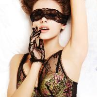 China Ladies Sexy Lace Soft Pad Blindfolded Patch Bondage Sex Toys Eye Mask on sale