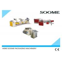 China Single Facer Carton Production Line , Auto - Cycle Corrugated Box Gluing Machine wholesale