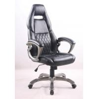 China Black PU Porsche Racing Office Chair with Painting Armrest Executive Leather Office Chair wholesale