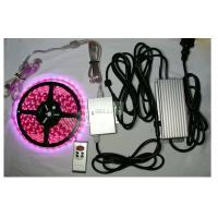 China Indoor / outdoor bright remote RGB LED Strips Light 12v 24v flexiable PCB Material wholesale