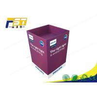 China Eco - Friendly Paper Cardboard Recycling Bins Snacks Retail Point Of Purchase Displays wholesale