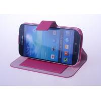 China Stand leather cover for samsung galaxy s4, galaxy i9500 shell case with credit card slot on sale