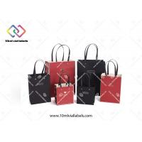 China Multi Color Custom Paper Bag Single Color Printing With PP Rope Handles wholesale