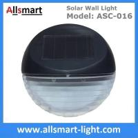 Buy cheap 2 LED Round Solar Fence Sensor Light Wall Mount Solar Landscaping Wall Lamp Solar Powered Security Lighting from wholesalers