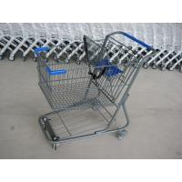 China Unfolding Style Supermarket Shopping Trolley , Wire Metal Shopping Cart wholesale