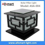 China Aluminum Solar Pillar Lights ASA-004 Solar Post Pole Column Lights Solar Gate Lamp wholesale