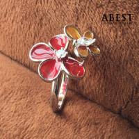 China Fashion 925 Sterling Silver Dragonfly Shape Color Enamel Ring Gift Design wholesale