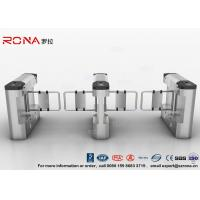 China Brushed Swing Pedestrian Barrier Gate 550mm Passage Width Steel Swing Material wholesale
