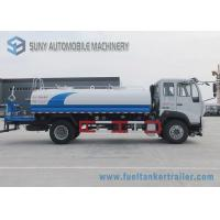 China Sino HOWO Commercial Water Tanker Truck 160 Hp 12000 Liters 4X2 Driving Type 6 Wheels on sale
