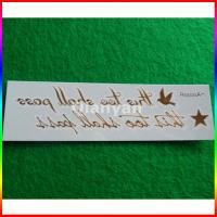 China letter gold foil tattoo sticker on sale