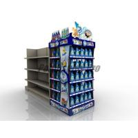 China Curved Shelf Sustainable End Cap Shelving For Promoting Laundry Detergent on sale