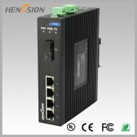 China 1.2Mpps Fiber Optical Network Switch , Din Rail Installed Outdoor Ethernet Switch wholesale