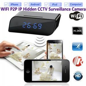 China T8S 720P Alarm Clock WIFI P2P IP Spy Hidden Camera Home Security CCTV Surveillance DVR with Android/iOS App Control wholesale