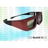 China Cinema IR Active shutter adult 3D glasses GT100, red iron color wholesale