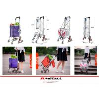 China Aluminum folding shopping cart with stair climbing wheels for personal in supermarket, grocery store and farmer markets wholesale