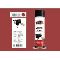 Buy cheap MSDS Animal Marking Paint Minibus Red Color For Cattles 0.3 - 0.5 Mpa Pressure from wholesalers