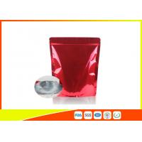 China Customized Red Tea Packaging Bags With Zipper / Coffee Bean Pouches wholesale