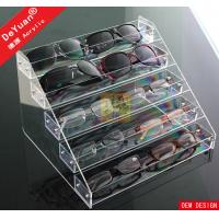 China Wall Mounted Sunglass Display Rack 5 Tier Transparent Acrylic Sheet on sale