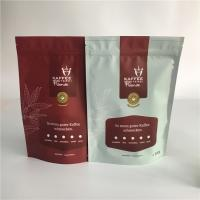 China Matte Stand Up Tea Bags Packaging Plastic Zipper Coffee Bag With One Way Degassing Valve wholesale