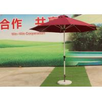 China 3.0 M Red Big Outdoor Umbrella , Round Patio Umbrella Parasol For Garden wholesale