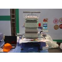 China Hat / Finished Garments Single Head Cap Embroidery Machine Low Noise / Less Vibration wholesale