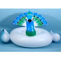 China 75' Color Peacock Inflatable Pool Floats Fashion Blue Peacock water Float From China Factory on sale