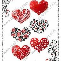 Hearts Temporary Tattoo Sticker/Decal for Valentine's Day