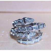 China Women's Unique 18K White Gold With Diamond Ring Customization Available wholesale