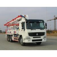 China Safety Electronically Control Concrete Pump Truck Strong Stability With HOWO Chassis wholesale