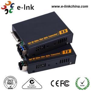 China DVI-D Video to Fiber Converter ,  Multi-mode Fiber, 350 meters, LC(SFP), including 1 transmitter 1 receiver wholesale