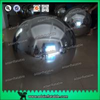 China Wedding Stage Christmas Decoration Inflatable Mirror Balls Large Gold / Silver wholesale