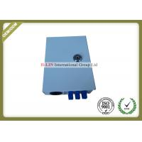 China Small Metal Fiber Termination Cabinet 6 Port , Indoor Fiber Optic Cable Junction Box on sale